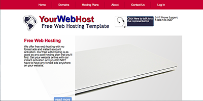 free web hosting template